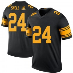 Nike Benny Snell Jr. Pittsburgh Steelers Youth Legend Black Color Rush Jersey