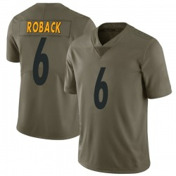 Nike Brogan Roback Pittsburgh Steelers Youth Limited Green 2017 Salute to Service Jersey
