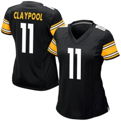 Nike Chase Claypool Pittsburgh Steelers Women's Game Black Team Color Jersey