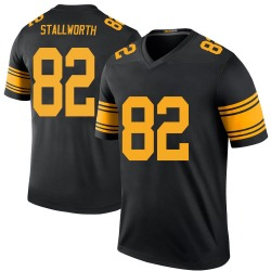 Nike John Stallworth Pittsburgh Steelers Men's Legend Black Color Rush Jersey
