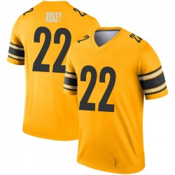 Nike Stevan Ridley Pittsburgh Steelers Youth Legend Gold Inverted Jersey