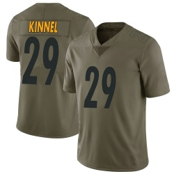 Nike Tyree Kinnel Pittsburgh Steelers Youth Limited Green 2017 Salute to Service Jersey