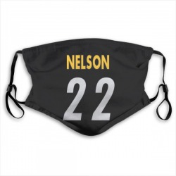 Steven Nelson Pittsburgh Steelers Black Jersey Name and Number Face Mask