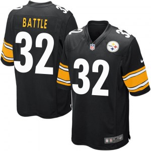 Nike John Battle Pittsburgh Steelers Youth Game Black Team Color Jersey