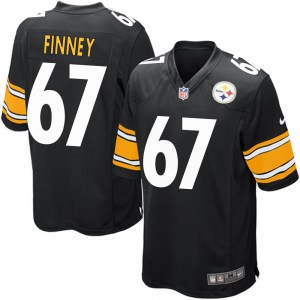 Nike B.J. Finney Pittsburgh Steelers Youth Game Black Team Color Jersey