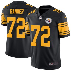 Nike Zach Banner Pittsburgh Steelers Men's Limited Black Color Rush Jersey