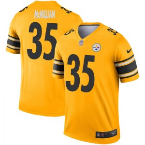 Nike Travon McMillian Pittsburgh Steelers Youth Legend Gold Inverted Jersey