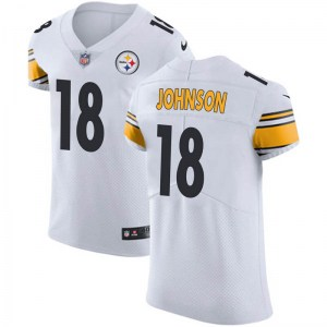 Nike Diontae Johnson Pittsburgh Steelers Men's Elite White Vapor Untouchable Jersey