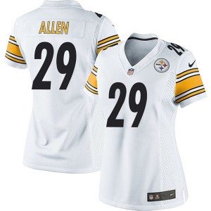 Nike Brian Allen Pittsburgh Steelers Women's Game White Jersey