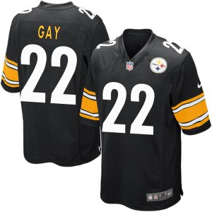 Nike William Gay Pittsburgh Steelers Men's Game Black Team Color Jersey