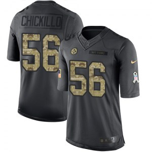 Nike Anthony Chickillo Pittsburgh Steelers Youth Limited Black 2016 Salute to Service Jersey