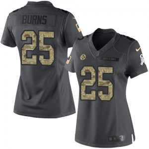 Nike Artie Burns Pittsburgh Steelers Women's Limited Black 2016 Salute to Service Jersey
