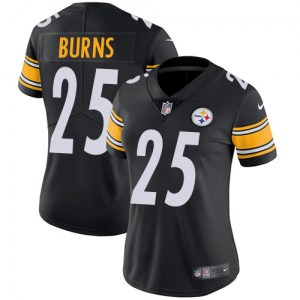 Nike Artie Burns Pittsburgh Steelers Women's Limited Black Team Color Jersey