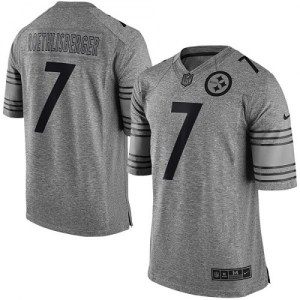 Nike Ben Roethlisberger Pittsburgh Steelers Men's Limited Gray Gridiron Jersey
