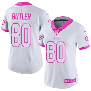 Nike Jack Butler Pittsburgh Steelers Women's Limited Pink White/ Color Rush Fashion Jersey