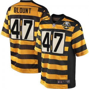 Nike Mel Blount Pittsburgh Steelers Youth Limited Yellow/Black Alternate 80TH Anniversary Throwback Jersey