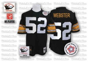Mitchell and Ness Mike Webster Pittsburgh Steelers Men's Authentic Black Mitchell And Ness Team Color Throwback Jersey
