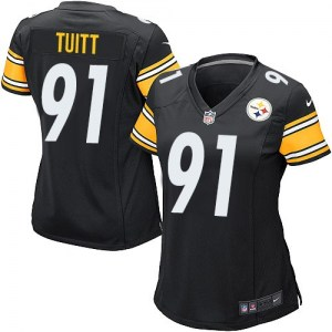 Nike Stephon Tuitt Pittsburgh Steelers Women's Game Black Team Color Jersey
