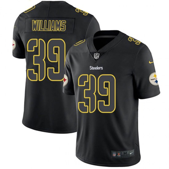 Nike Malik Williams Pittsburgh Steelers Youth Limited Black Impact Jersey